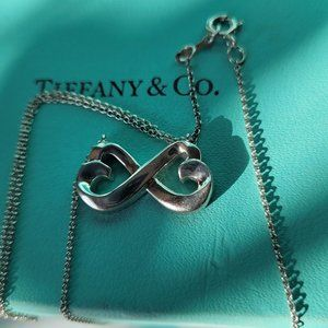 NEW Tiffany & Co Picasso Double Hearts necklace
